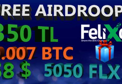 Free airdrop – Bedava 350 TL – felixo.com
